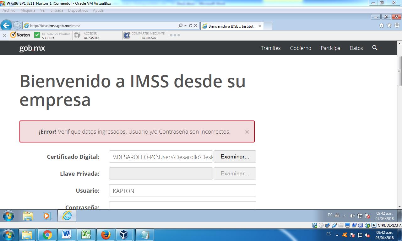 error-idse-imss-portal-sat